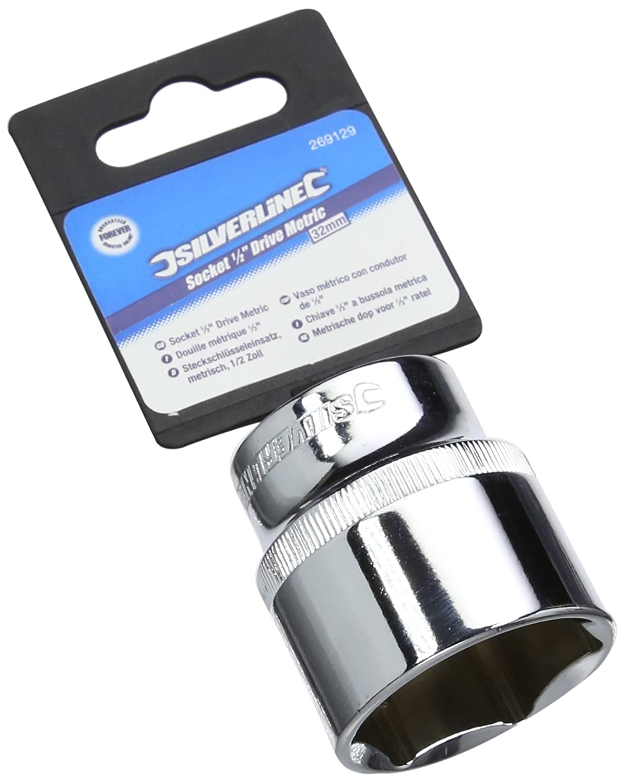 Silverline 269129 - Vaso mé trico de 1/2' (32 mm) Toolstream