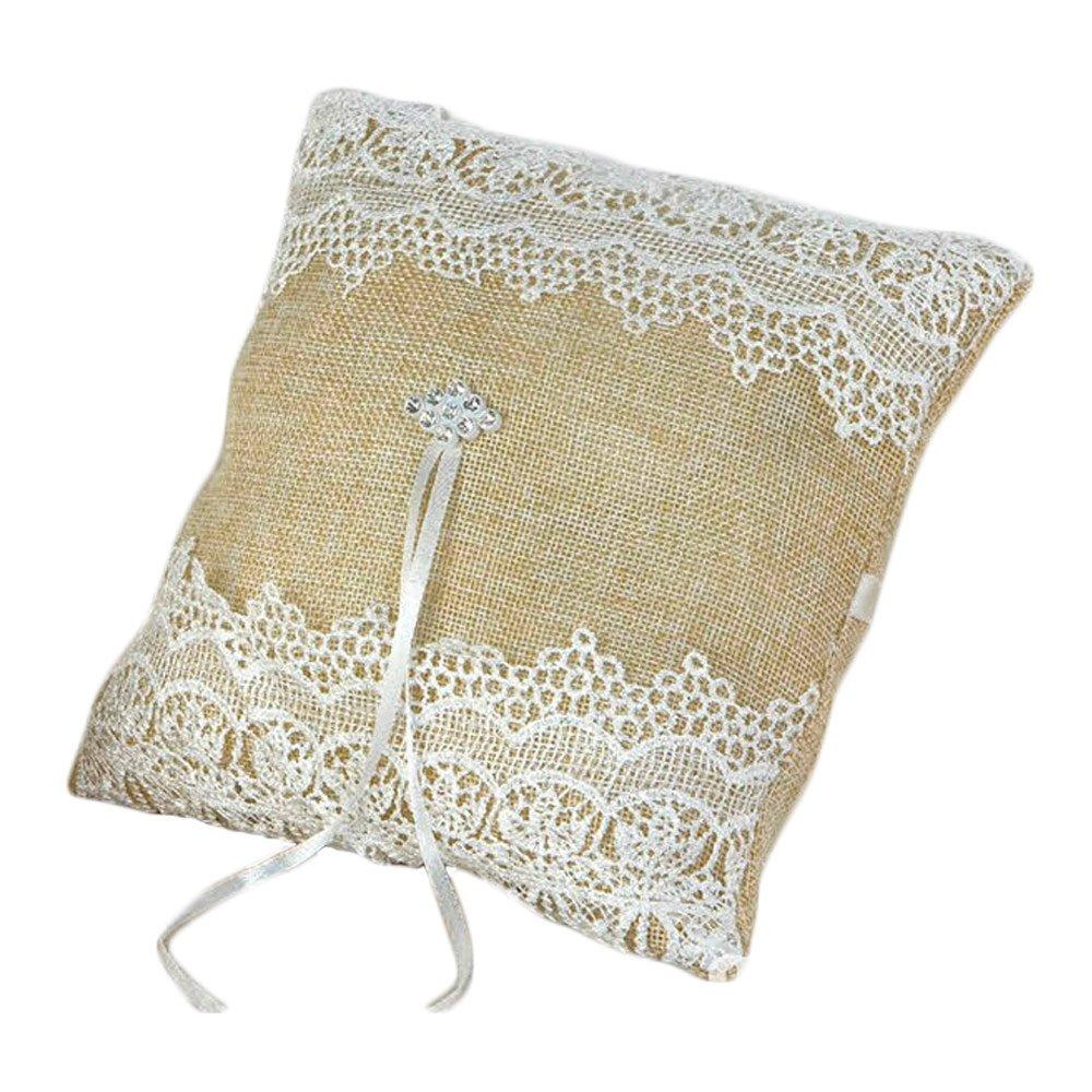 Mopec Cojín para alianzas, Textil, Beige, 5.5x5.5x19 cm ...
