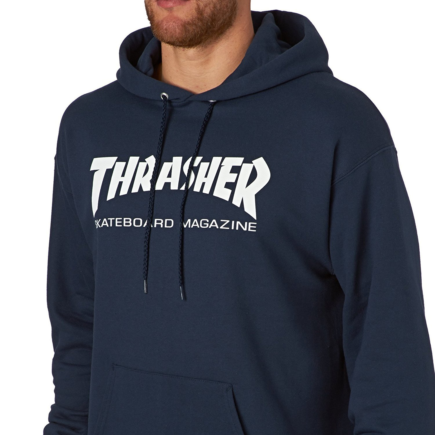 5755e5610360 Thrasher Skate Mag Hoodie - Navy at Amazon Men s Clothing store