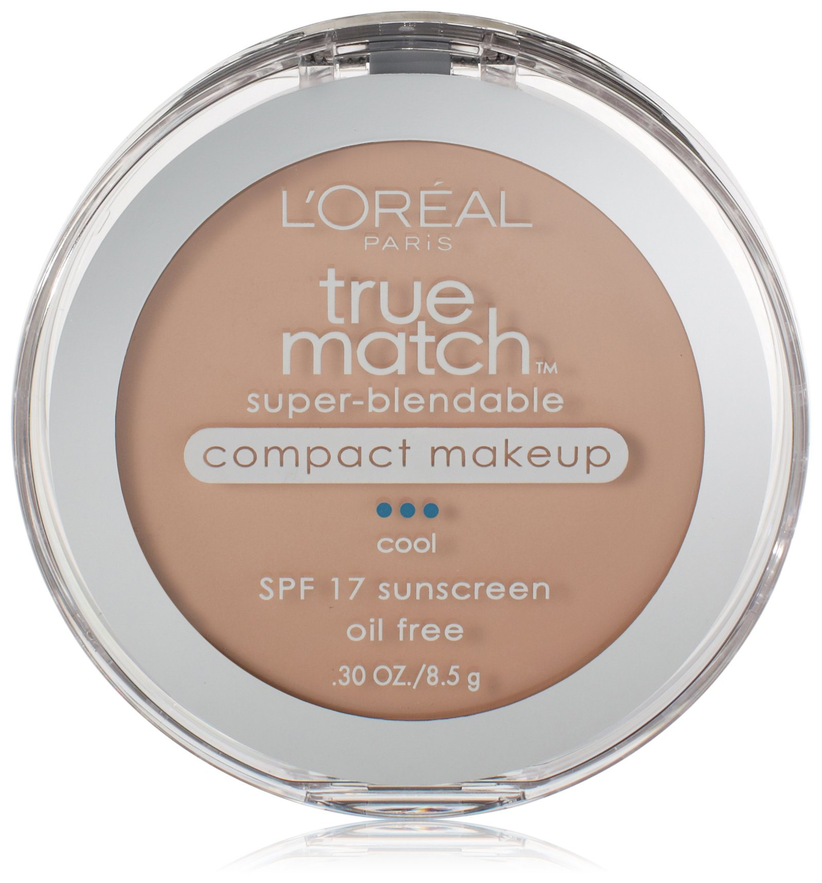 L'Oreal Paris True Match Super-Blendable Compact Makeup, Natural Ivory, 0.30 Ounces