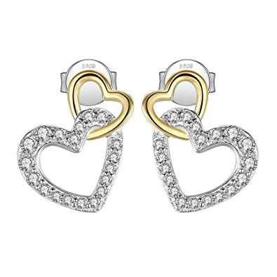 b74110cfb Image Unavailable. Image not available for. Color: JewelryPalace 925  Sterling Silver Infinity Love Two ...