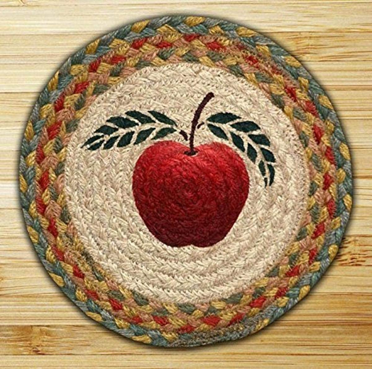Earth Rugs Trivet, 10-Inch, Blue/Red