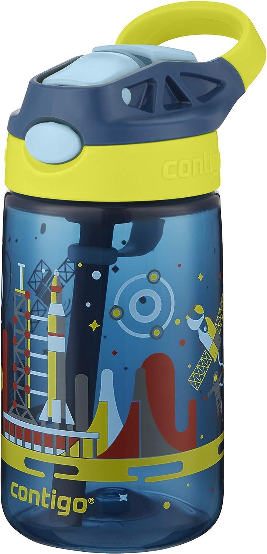 420 ml BPA-freie Trinkflasche auslaufsicher ideal f/ür Schule und Sport Contigo Kinder Wasserflasche Gizmo Flip Autospout mit Strohhalm