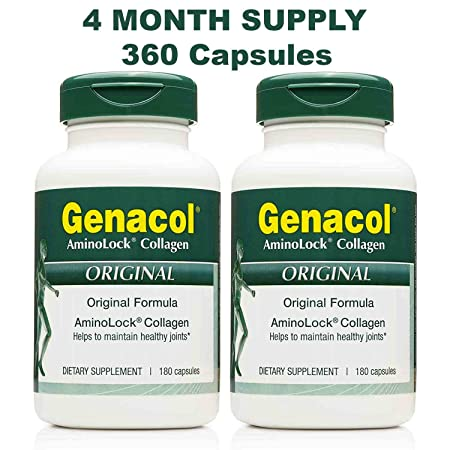 Amazon.com: GENACOL BIO-Active Hydrolyzed Collagen Peptides (360 Capsules) Premium Collagen Hydrolysate Protein Joint Supplements for Men and Women ...