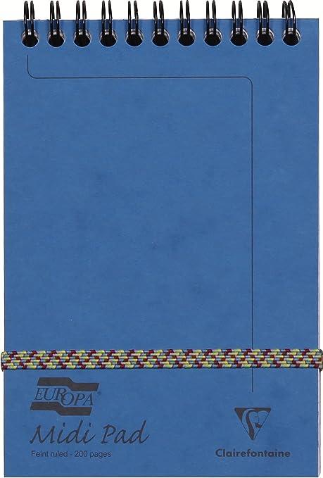 Amazon.com: Europa 6 x 4 inch forrado Midi espiral Pad, Azul ...