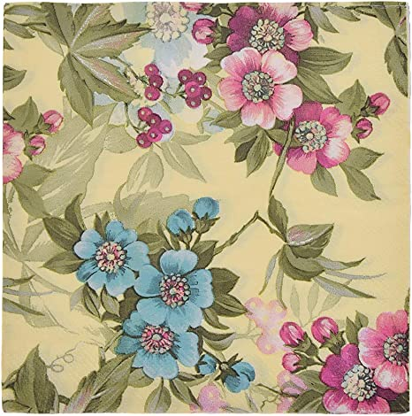 4 Déjeuner serviettes en papier pour découpage Craft Vintage serviette Tender Papillons