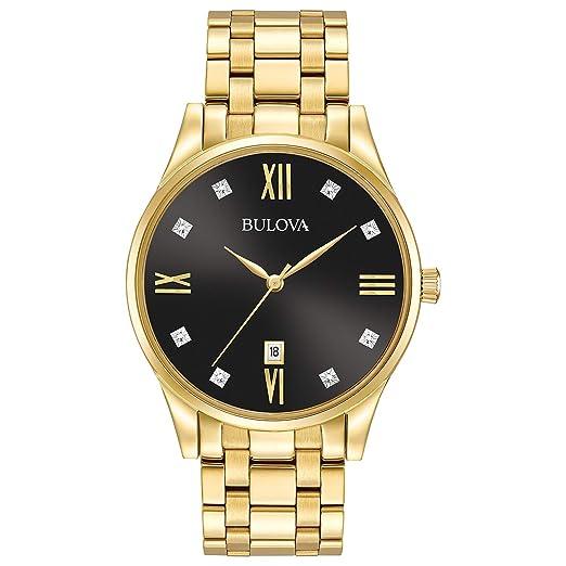 0d9cf51cba370 Bulova Mens 97D108 Dress Black Dial Watch  Amazon.ca  Watches