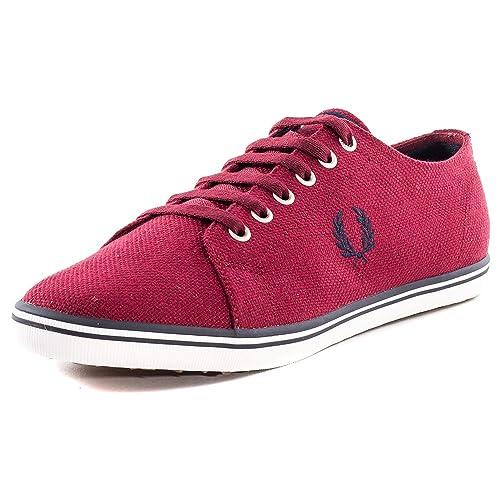 Fred Perry - Zapatillas de Lona para hombre Rojo Size: 39 EU: Amazon.es: Zapatos y complementos