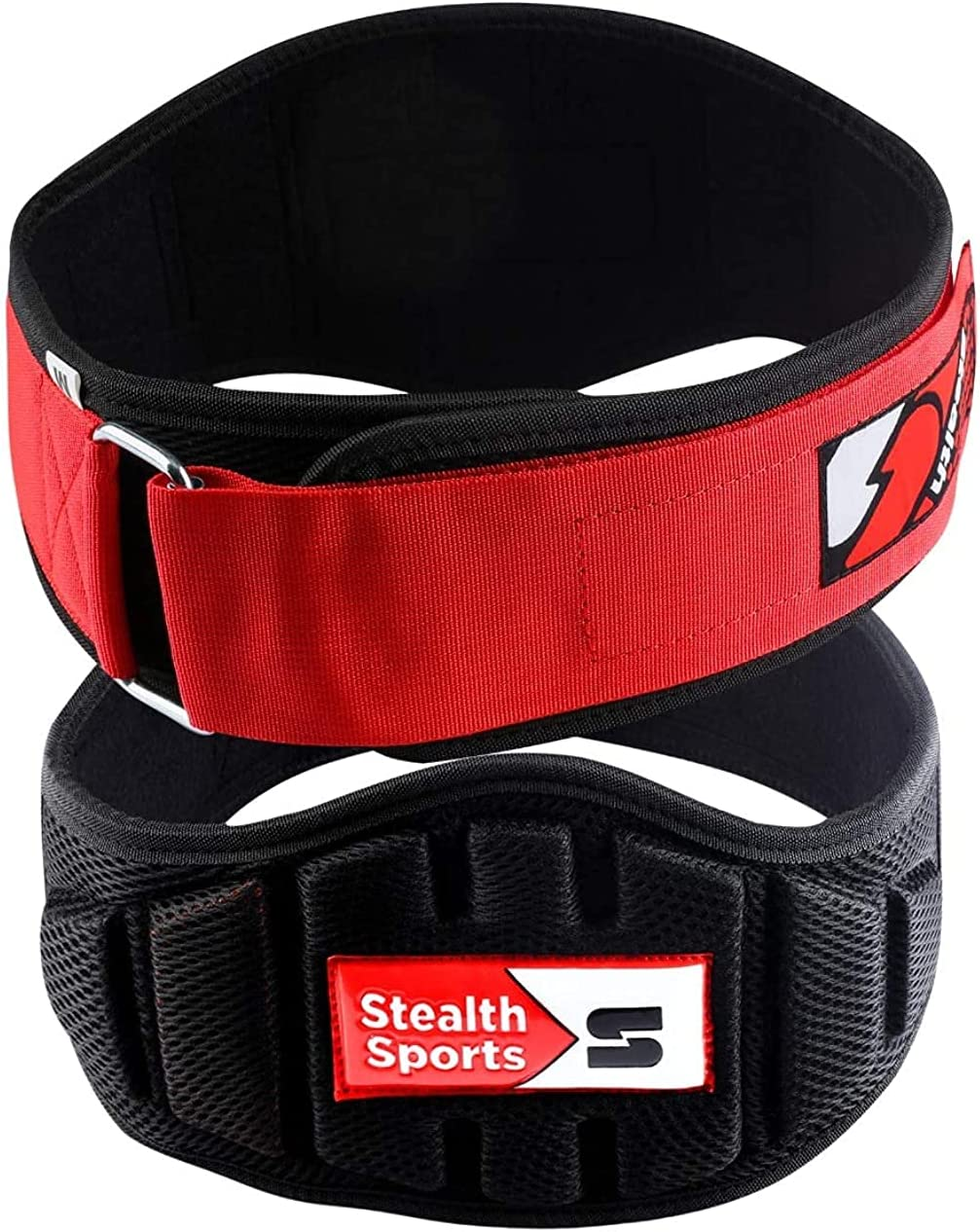 Gym Belt for Men and Women Maximum Support and Increased Performance Double Tone 6-inch Weightlifting Belt Stealth Sports Weight Lifting Belt Premium Neoprene Back Support Belt