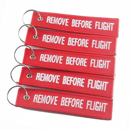 Image Unavailable. Image not available for. Color  5 Pcs Red REMOVE BEFORE  FLIGHT Embroidered Specil Luggage Tag ... cfe4898fe192