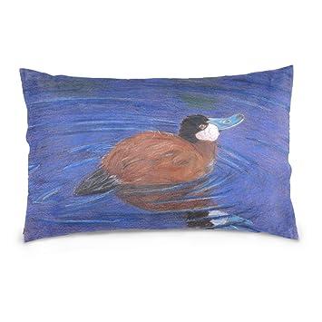 Amazon.com: wdysecret Pintura al óleo Pato algodón Throw ...