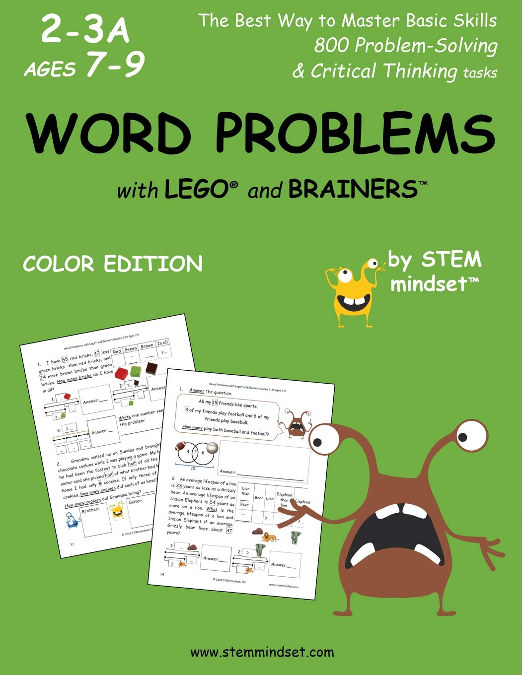 Word Problems with Lego and Brainers Grades 2-3a Ages 7-9 Color Edition pdf epub