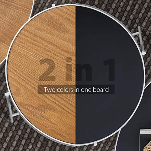 Sekey Home Round Coffee Table | Sofa Table | Accent Table Sets-Includes Cocktail Table End Table