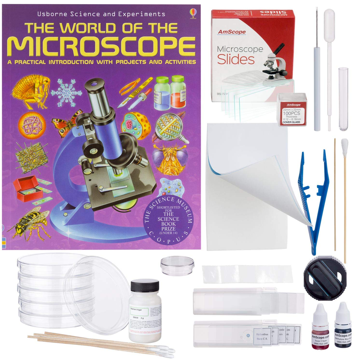 AmScope Compound Microscope Accessory and Book Kit: Preparation and Culturing by AmScope