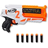 NERF Ultra Two Motorized Blaster - Fast Rear Reloading - Includes 6 Ultra Darts - up to 25m - Ultra Darts only - Kids…