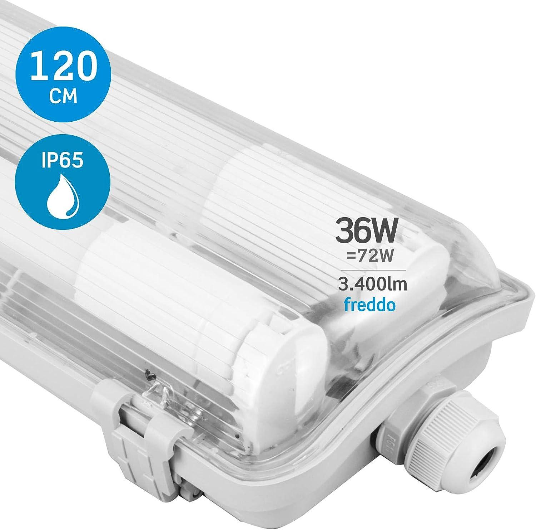 4er Set LED 36 Watt vasche LAMPADE umide spazio soffitto luci 2880 Lumen luce diurna