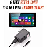 6 Feet Ac/dc Charger Adapter (6h) for 10.1 Inch Android Tablet Pc Wall Fits