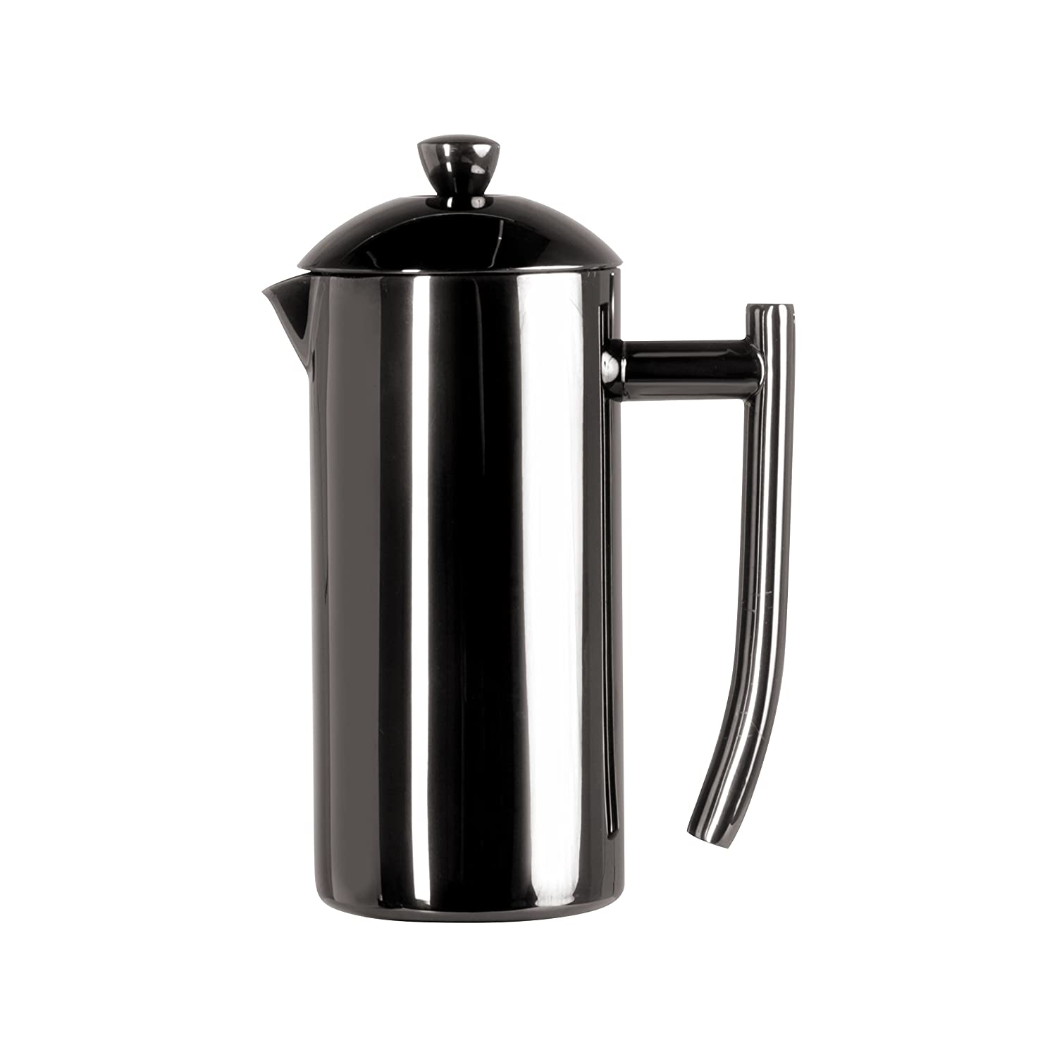 Frieling USA Double Wall Stainless Steel French Press Coffee Maker with Patented Dual Screen in Frustration Free Packaging, Black Metallic, 23-Ounce 253