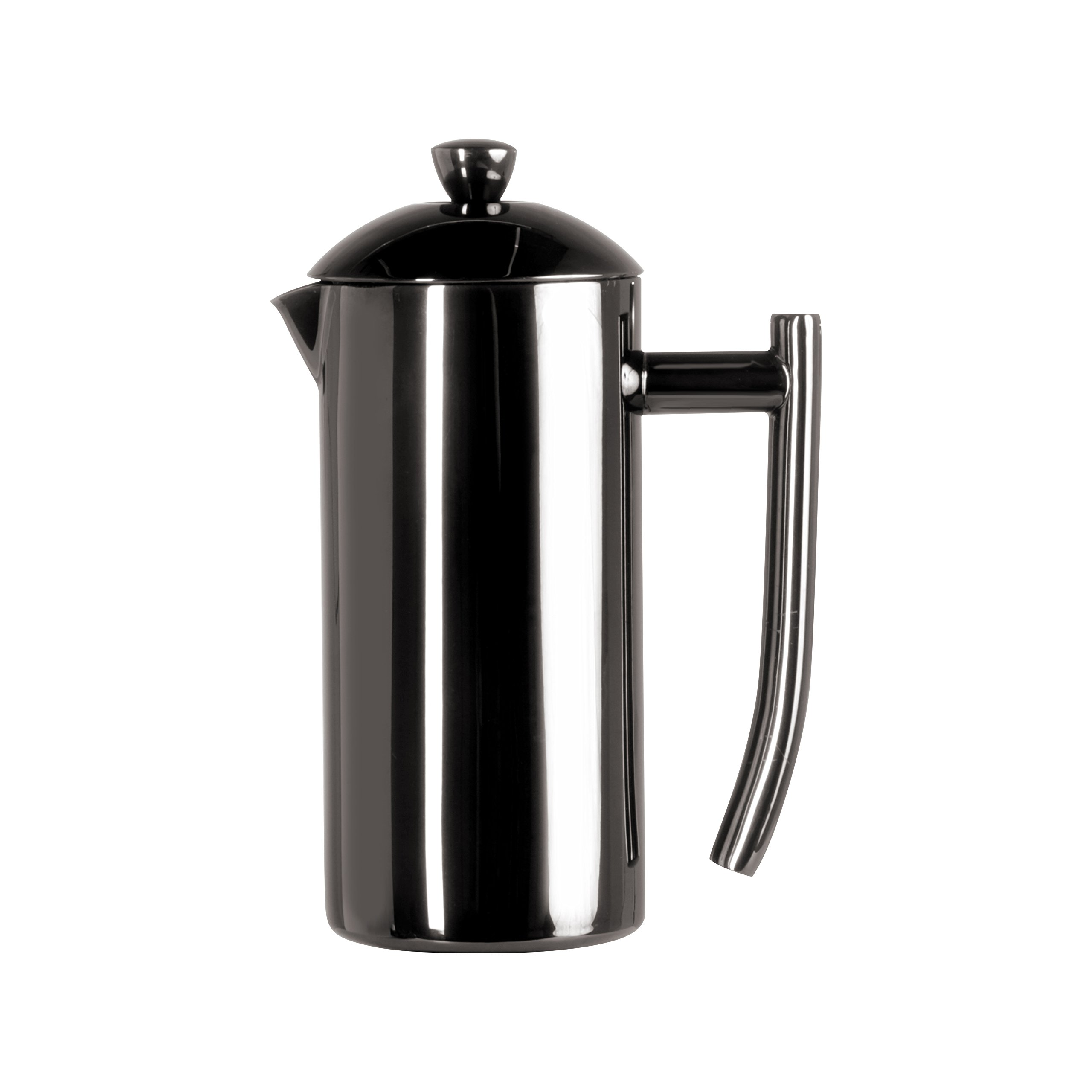 Frieling USA Double Wall Stainless Steel French Press Coffee Maker with Patented Dual Screen in Frustration Free Packaging, Black Metallic, 23-Ounce