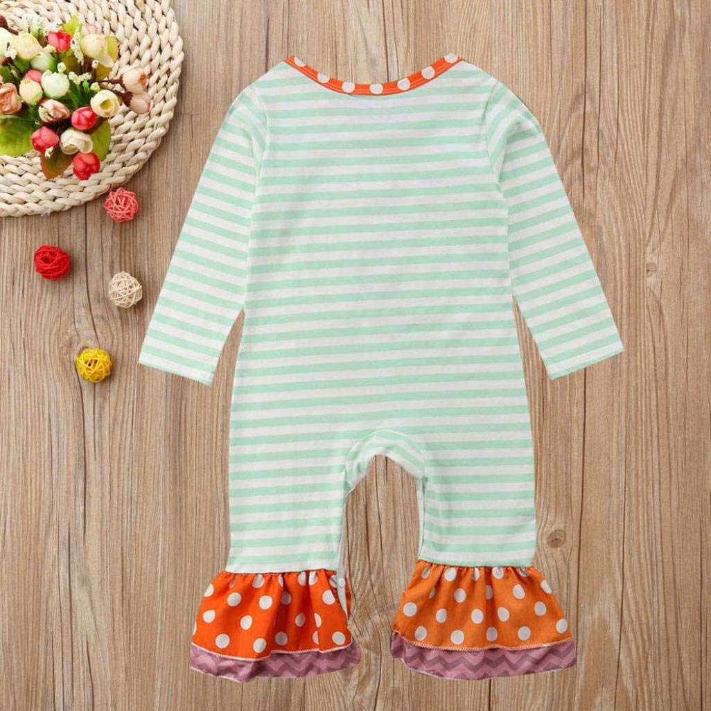 Halloween Clothes Jumpsuit Kid,Fineser Newborn Toddler Infant Baby Girl Boy Striped Dot Romper Jumpsuit Clothes