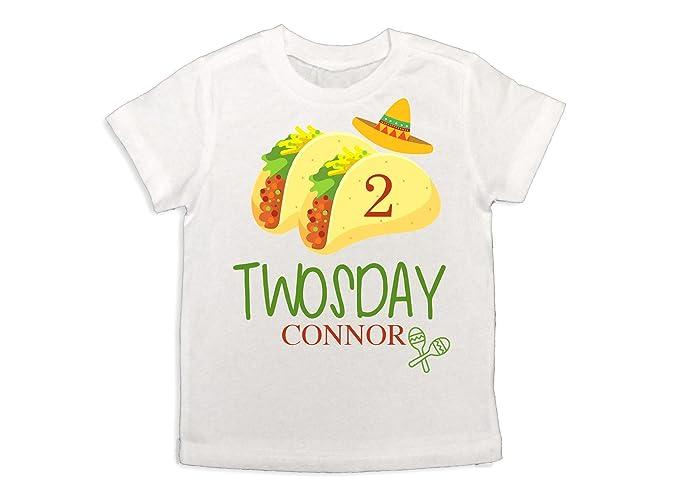 Boys Taco Twosday Shirt Baby Boy Fiesta 2nd Birthday