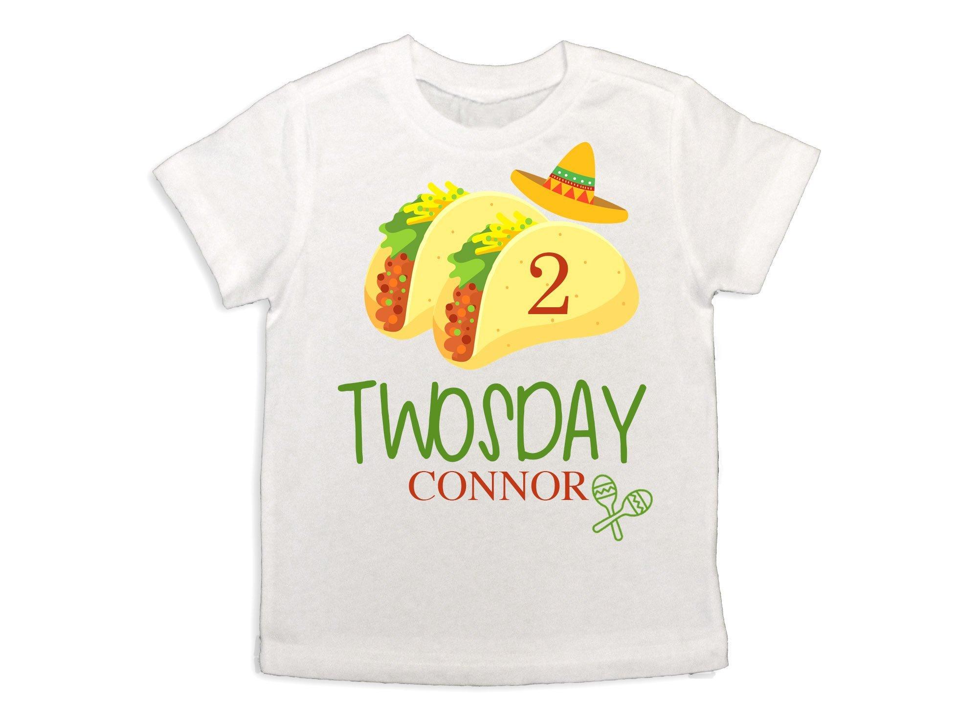 Boy's Taco Twosday Shirt Taco Shirt Baby Boy Fiesta 2nd Birthday Shirt Boys 2nd Birthday Shirt Boys Sombrero Shirt Taco 2nd Birthday Party