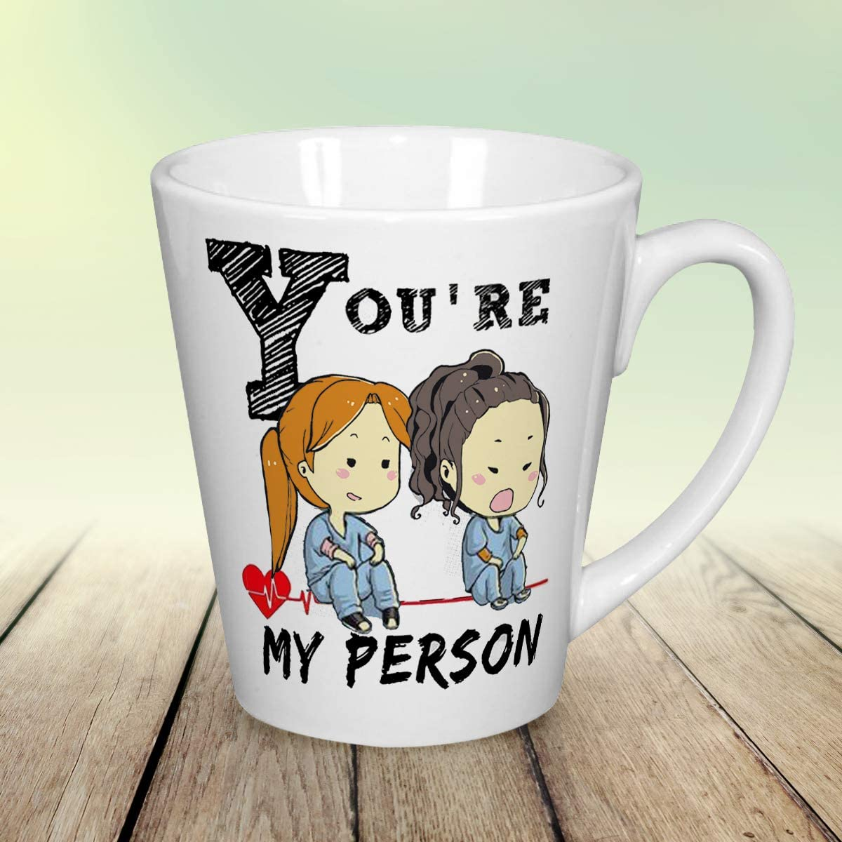 Youre My Person Shot Black Glass