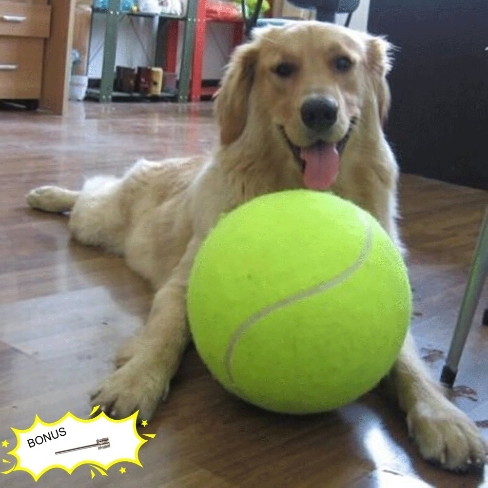 Banfeng Giant 9.5'' Dog Tennis Ball Large Pet Toys Funny Outdoor Sports Dog Ball