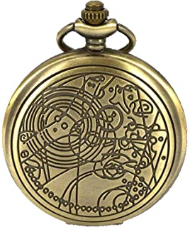 Vintage Doctor Who Retro Dr. Who Quartz Pocket Watch with Chain & Gift Box