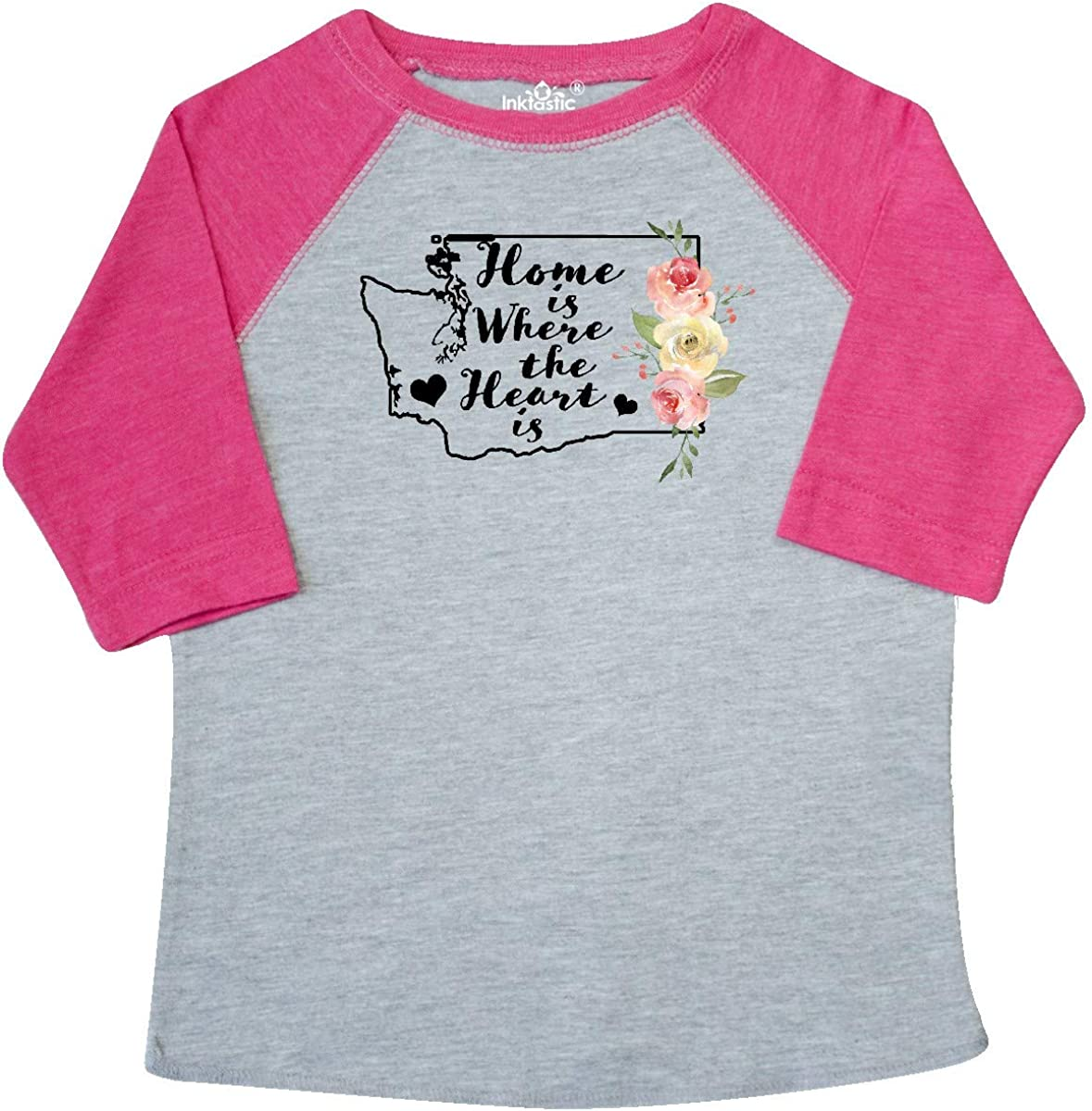 inktastic Washington Home is Where The Heart is with Watercolor Toddler T-Shirt