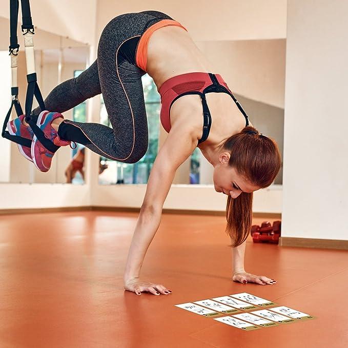 Ejercicio tarjetas Suspensión - para TRX, WOSS, y ritfit Trainer - Correas construir músculo, tono & Apriete - Gimnasio en casa peso resistencia ...
