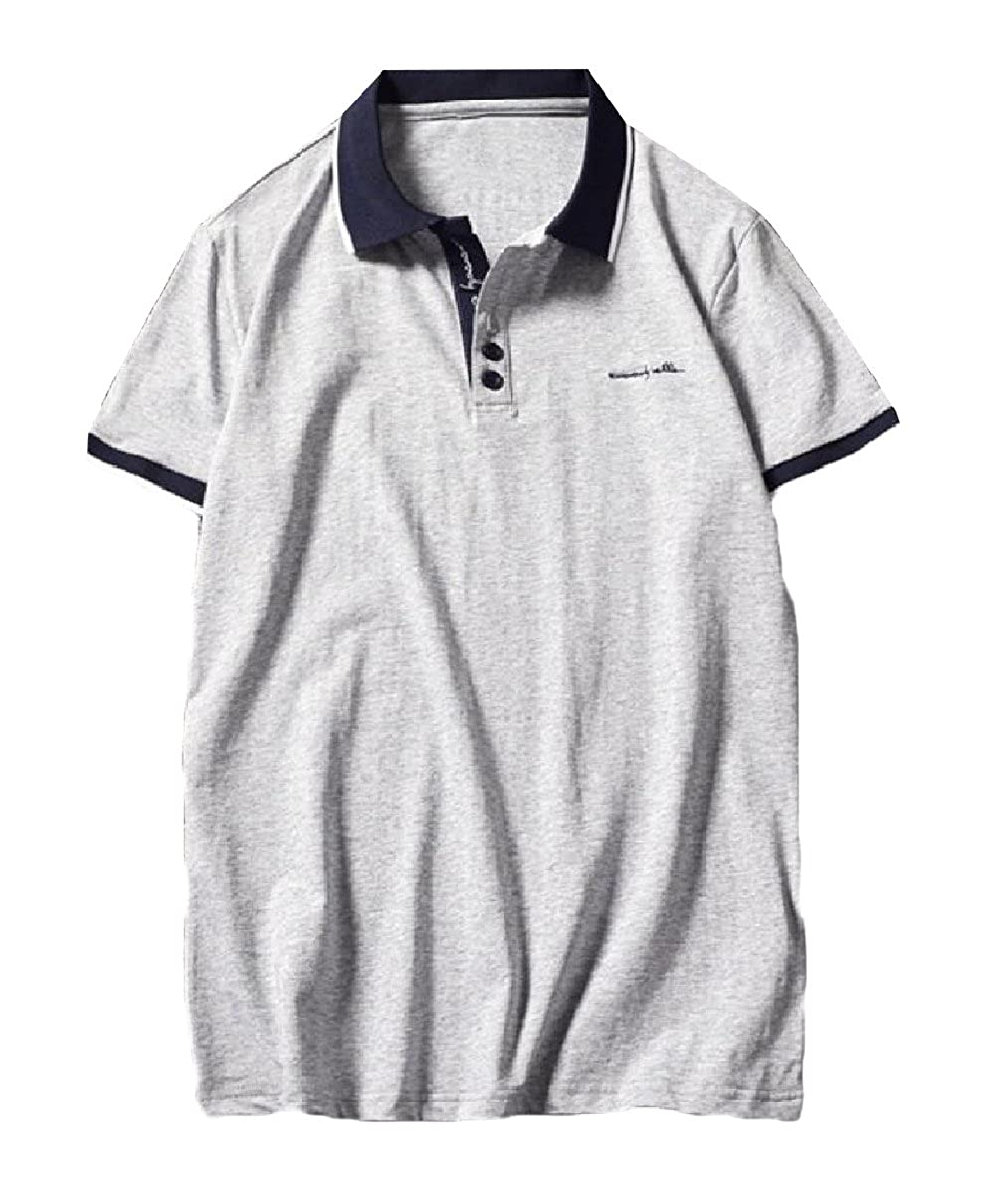 Howme Mens Vogue Pullover Short Sleeve Loose Fit Cotton Wild Polo
