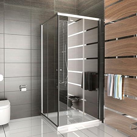 Mampara/EchtGlas cabinas de ducha/Ducha de cristal aprox. 80 x 80 ...