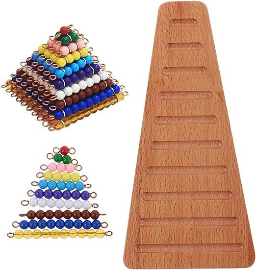 Montessori Material de Matemáticas Bolas de Colores y Bandeja de Forma Escalera: Amazon.es: Juguetes y juegos