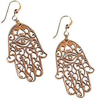 product image for Hamsa Peace Bronze Earrings on French Hooks