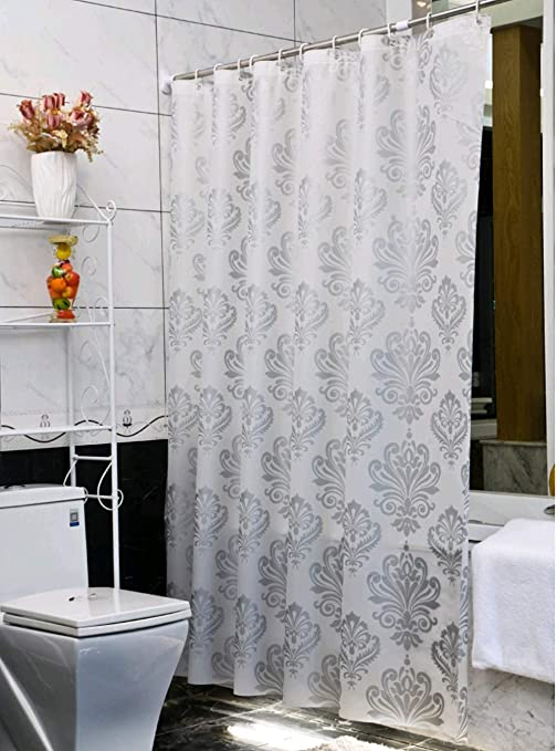Eco-friendly Water-resistant Shower Curtain Liner Hooks Home Bathroom Decor
