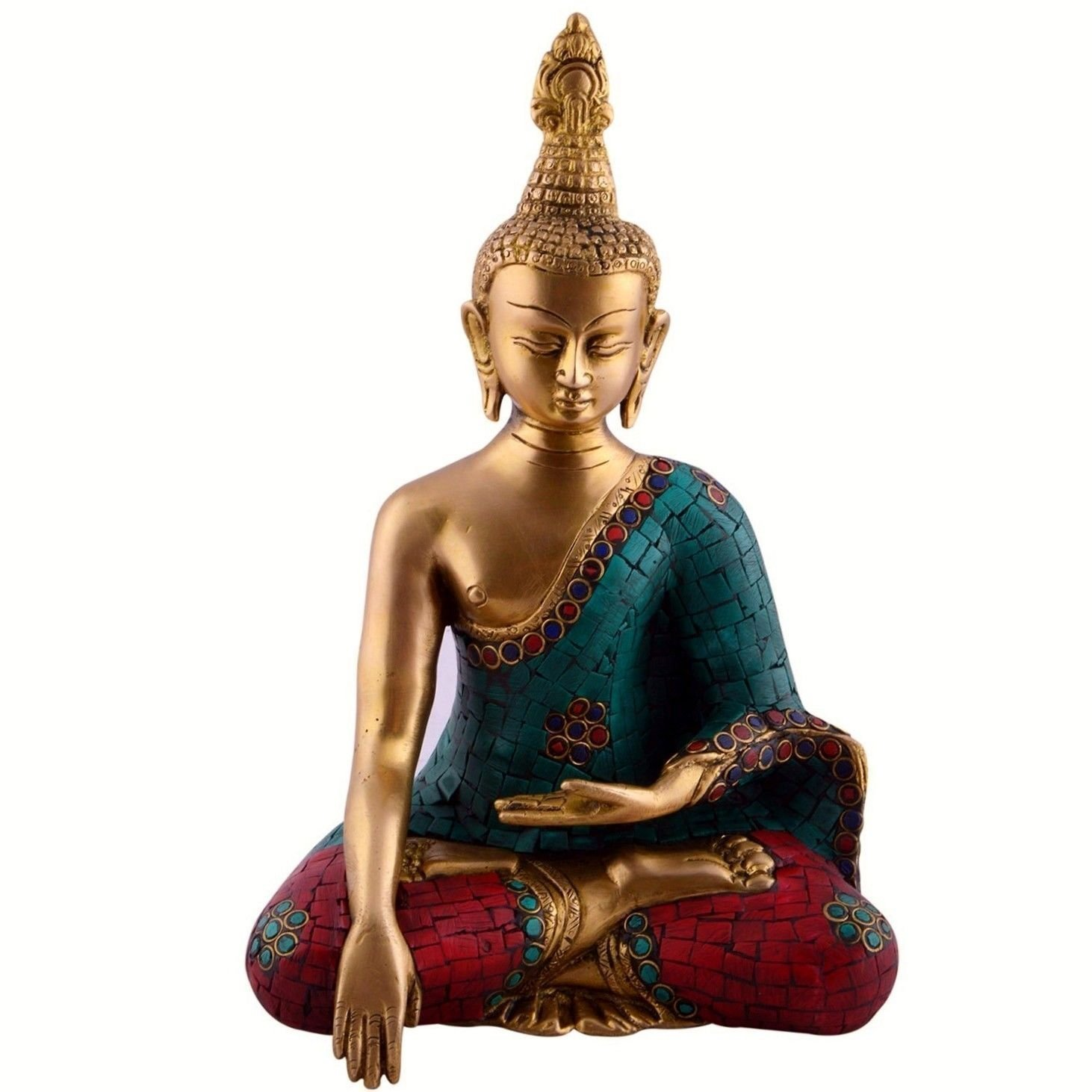 Aone India 10'' Thai Buddha Meditating Peace Harmony Statue + Cash Envelope (Pack Of 10) by AONE INDIA