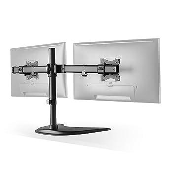 RICOO Doble Soporte Monitor de Mesa Escritorio para 2 Pantallas PC ...