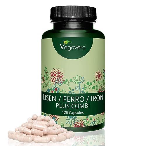 Vegavero | Hierro 14 mg Vegano | Con Vitamina C + B12 + B2 + B6