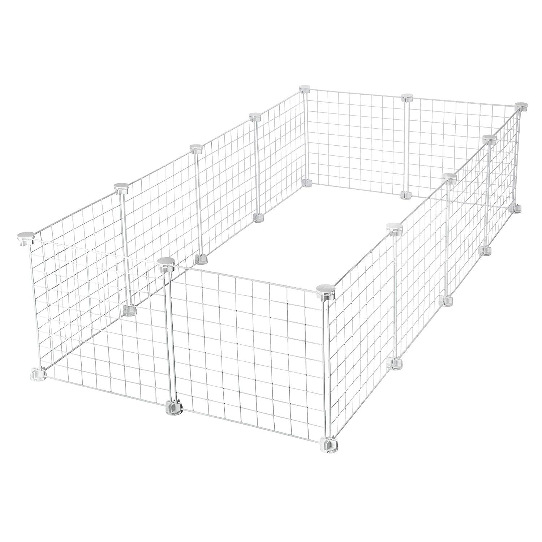 CagesCubes - Jaula CyC Grande para cobayas (2X4 Paneles en Blanco ...