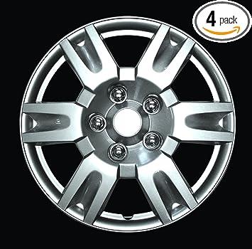 Pack of 4 45481 Black 14 Premium Quality Hubcap, HS