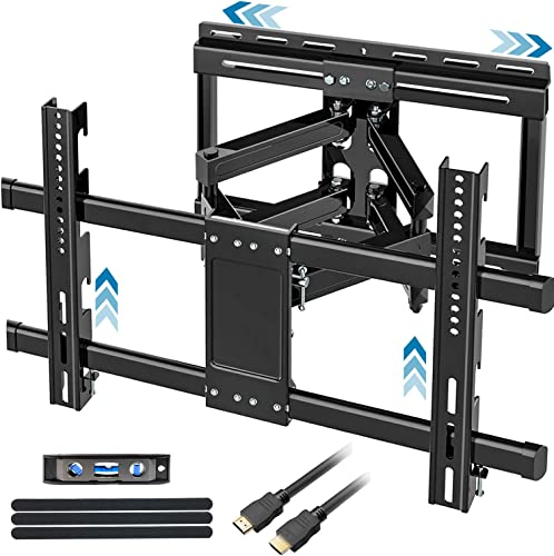 FOZIMOA Full Motion TV Wall Mount with Sliding Design for 32-80 inch TVs, TV Bracket with Articulating Swivel Tilt Arms, Fit LCD LED Plasma Flat Curved Screen, up to 100lbs and VESA 600×400