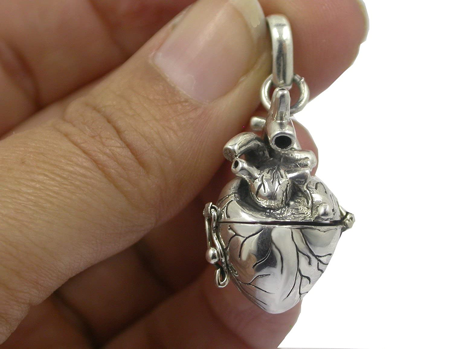 jewelry vintage locket pendant az antique necklace silver sterling pave bling inch lockets heart eos style