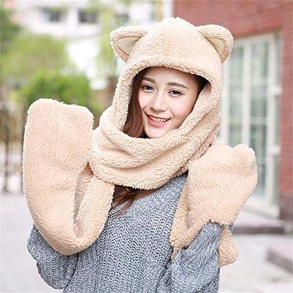 f55f9531d Amyannie Unisex para niños Suave Invierno cálido Bufanda con Capucha Pañuelo  de Cuello Cuello con Capucha
