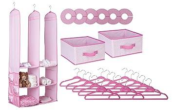 Superior Delta Children Nursery Closet Organizer, Pink, 24 Piece