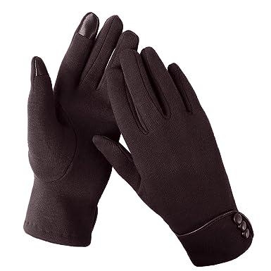 Aibrou femme Gants chauffants d hiver Gants professionnels à écran tactile  Gants de sport d ea0925654cd7