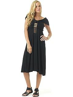 54b89bdd73 Lagaci Women's Super Soft Two-Way Convertible Maxi Dress & Skirt at ...