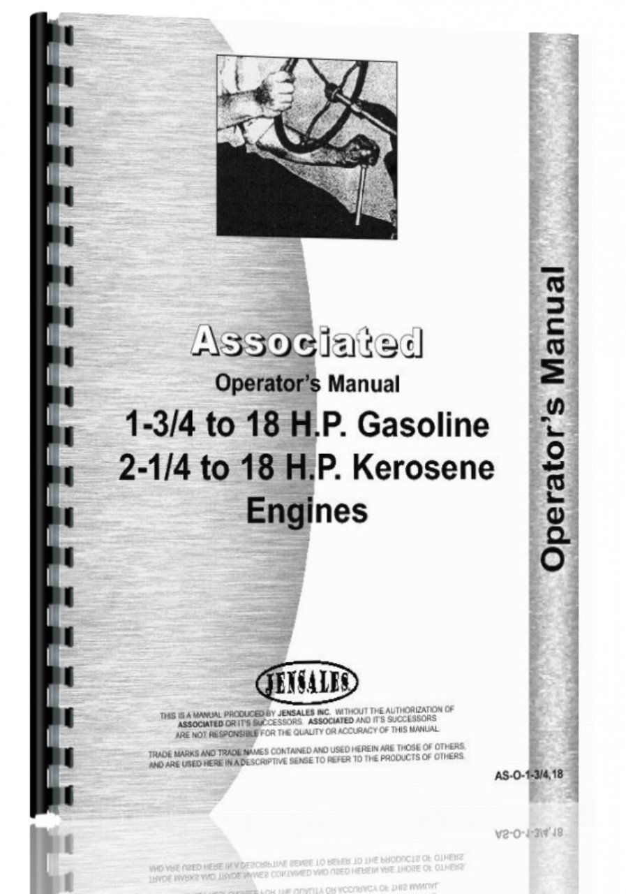 Download Associated all 1-3/4-18HP Engine Operators Manual pdf