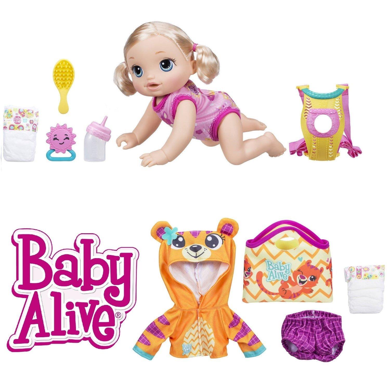 Amazon Com Baby Alive Baby Go Bye Bye Blonde Bonus Set Toys Games