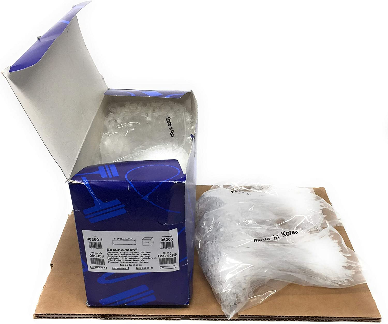 Fine Fabric 2 inch Clear Tagging Fasteners 5,000 per Carton